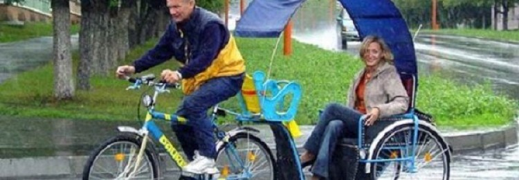 Велорикша – что это и для чего предназначается