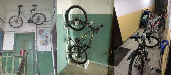 хранение велосипеда в тамбурном помещении