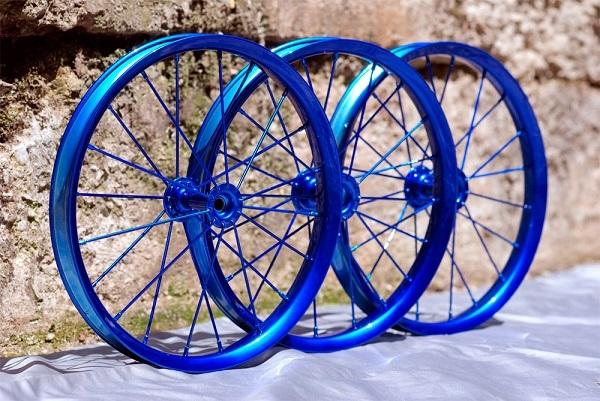 покраска колес велосипеда