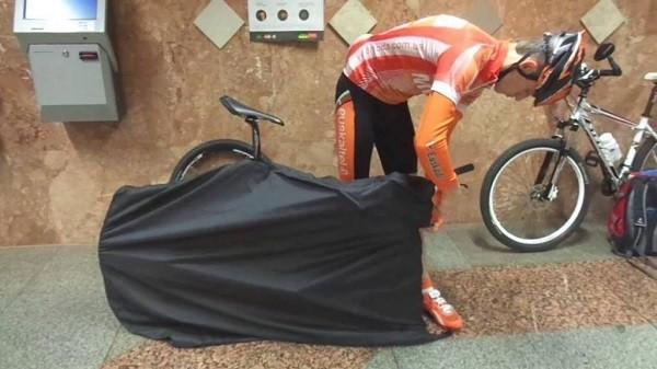упаковка велосипеда в чехол