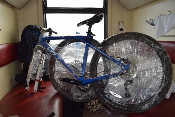 велосипед в плацкарте