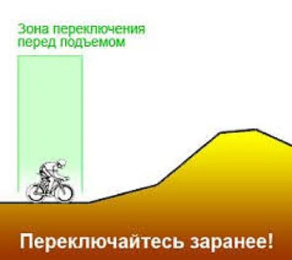 Переключение скоростей при подъеме