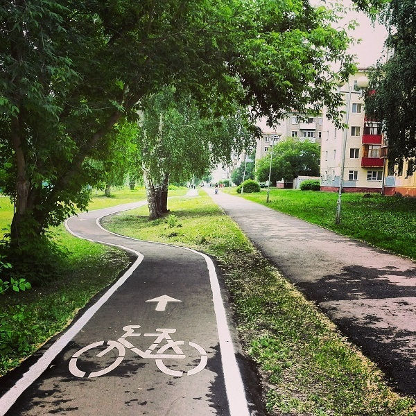 где встречается знак велодорожка