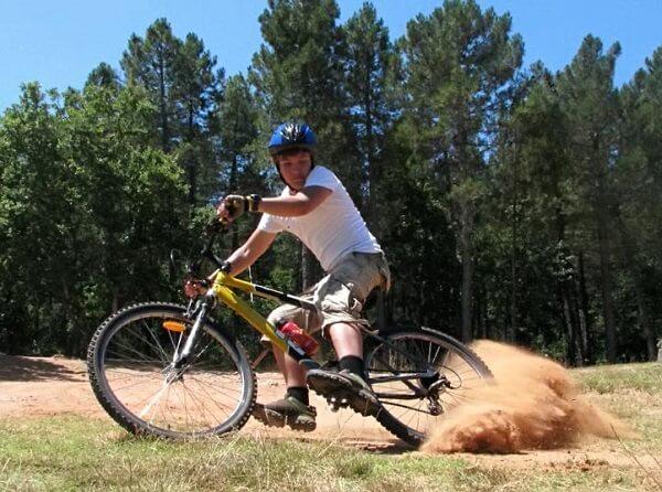 торможение велосипеда