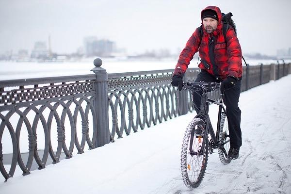 езда зимой на велике