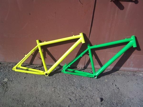лакировка рамы велосипеда