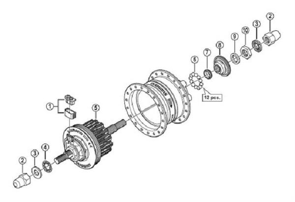 взрыв схема динамо втулки