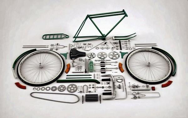 сборка велосипеда по запчастям