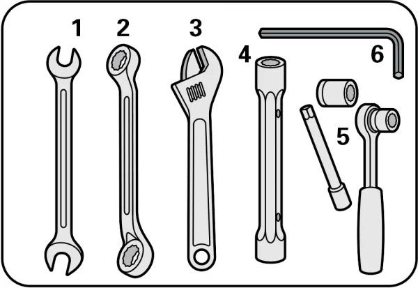 инструменты для разбора веловилки