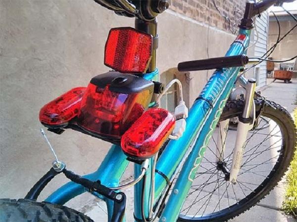 Как сделать поворотник на велосипед