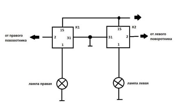 схема подключения велоповоротника